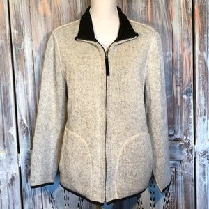 Coldwater Creek sweater knit zip jacket